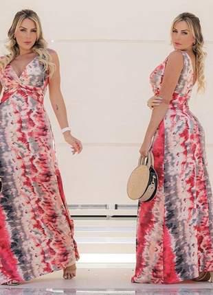 Vestido longo feminino tie dye diversas cores envio imediato