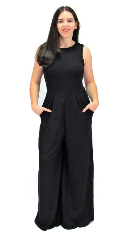 Macacão longo social pantalona preto vcut