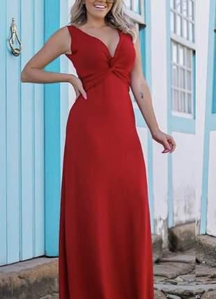 Vestido longo vermelho red casual