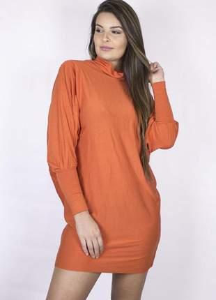 Blusão manga longa dress code moda laranja