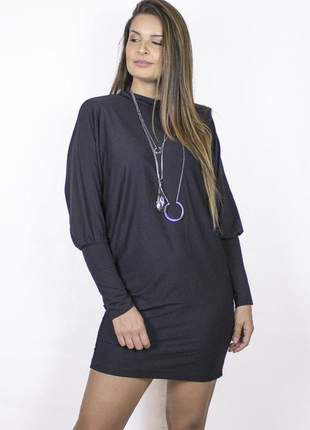 Blusão manga longa dress code moda preta