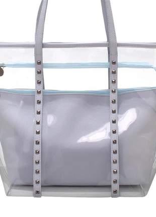 Bolsa transparente azul