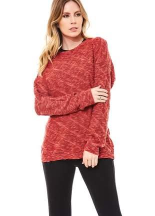 Blusa ralm tricot flammê- vermelho