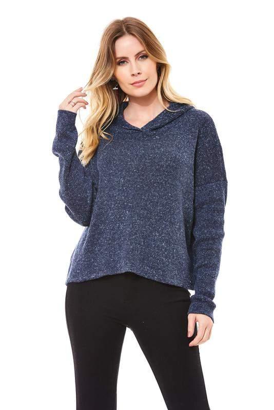 RALM. / Blusa ralm tricot capuz flammê- azul