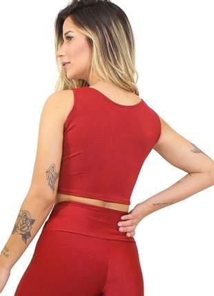 Cropped fitness feminino alcinha basic luxo
