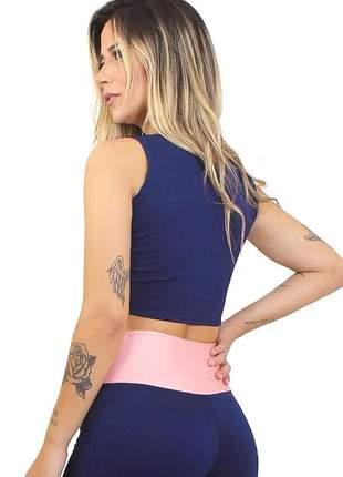 Cropped fitness feminino de alcinha basic luxo