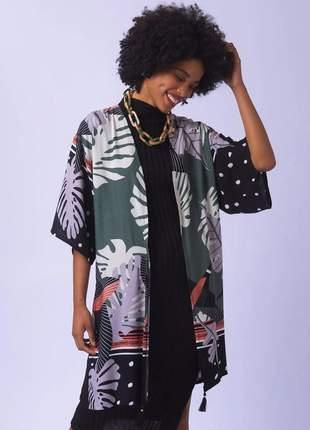 Kimono estampa natalie