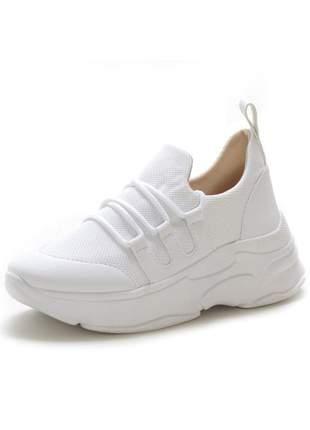 Tenis chunky casual sneakers feminino confortavel branco