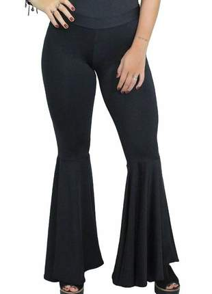 Calça legging feminina super flare luxo