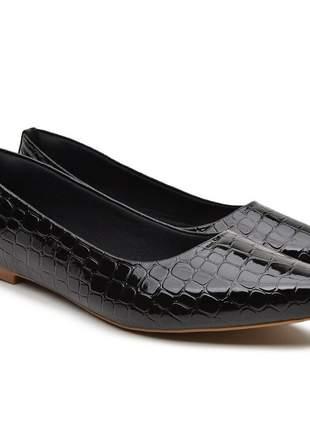 Sapatilha sapato rasteirinha preto escamado 2020 promoção