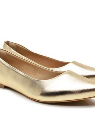 Sapatilha sapato rasteirinha dourada bico fino 2020 promoção