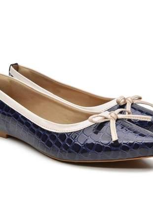 Sapatilha sapato rasteirinha escamada azul e branco 2020 promoção