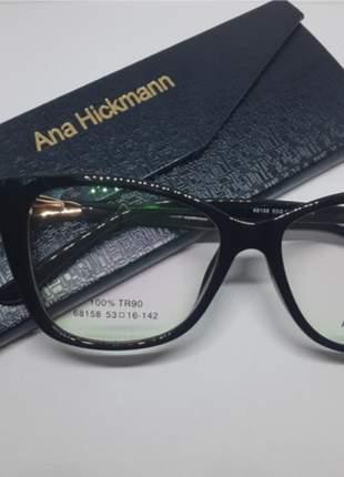 Óculos armação p/grau ana hickmann 68158 tr90 cores váriadas