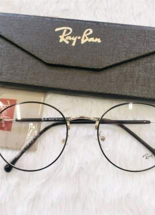 Óculos armação p/grau ray-ban round rb1933