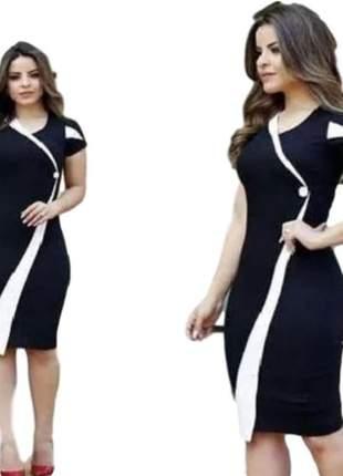 Vestido tubinho moda evangélica ref 672