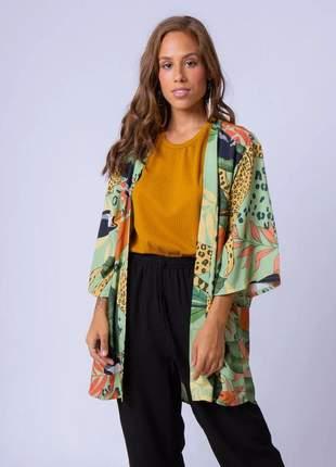 Kimono estampa amazônia