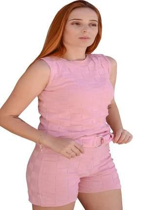 Shorts cintura alta feminino conjunto de tricot moda verão