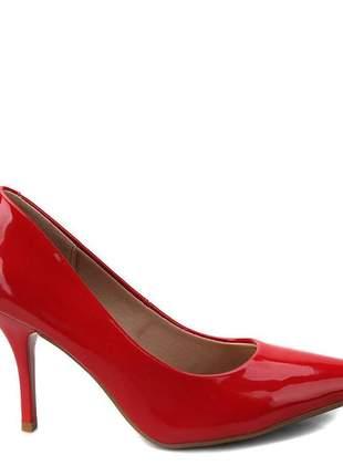c0615f4cee Sapato scarpin vermelho salto alto beira rio verniz
