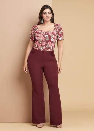Blusa plus size floral g2 _ 50