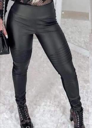 Legging preta calça feminina justa tratorada cirrê blogueira estilosa plus size tamanhos