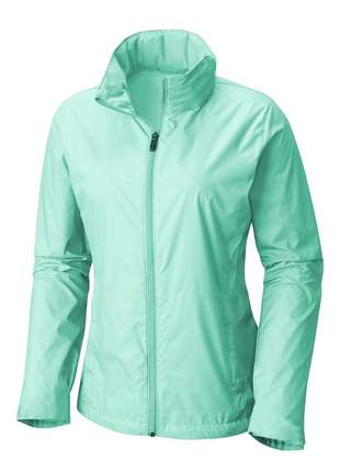 Jaqueta corta vento feminina impermeável r:1005 (verde-água)