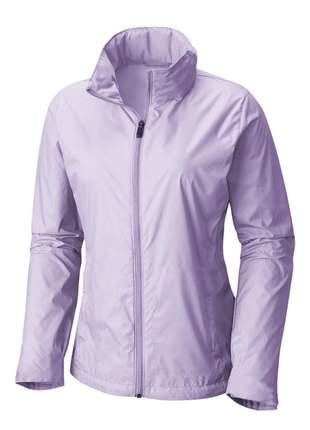 Jaqueta corta vento feminina impermeável r:1005 (lilás)