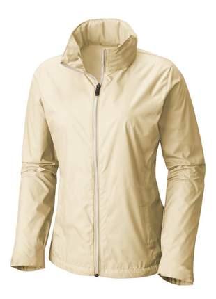 Jaqueta corta vento feminina impermeável r:1005 (creme)