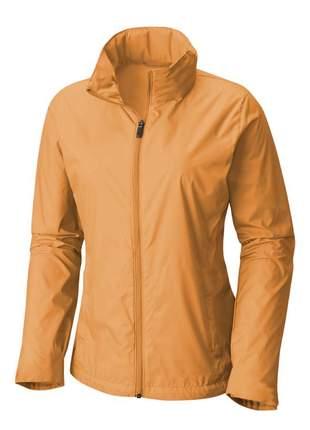 Jaqueta corta vento feminina impermeável r:1005 (marrom-claro)