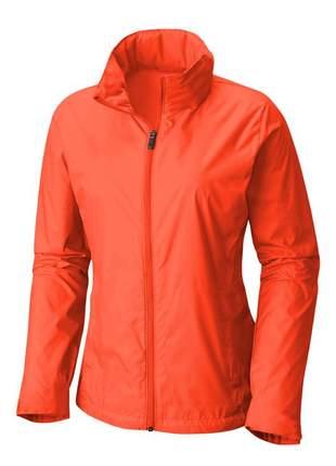 Jaqueta corta vento feminina impermeável r:1005 (laranja)