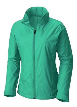 Jaqueta corta vento feminina impermeável r:1005 (esmeralda)