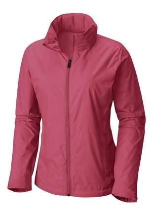 Jaqueta corta vento feminina impermeável r:1005 (rosa-escuro)