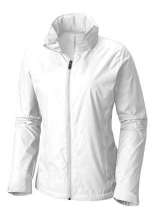 Jaqueta corta vento feminina impermeável r:1005 (branco)
