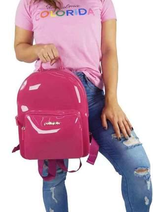 Bolsa petite jolie mochila pink pj2032 blogueira original