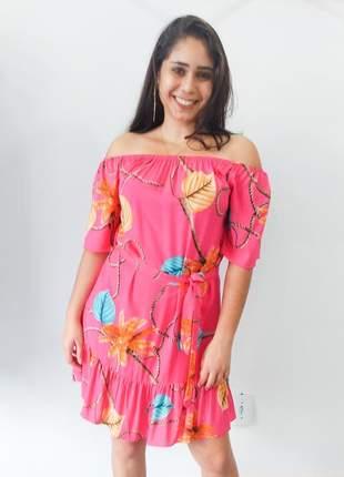 Vestido ciganinha ombro a ombro rosa