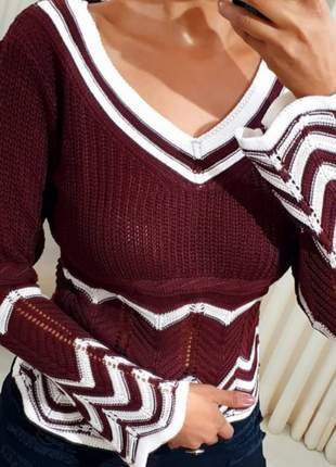 Blusa de frio de tricô