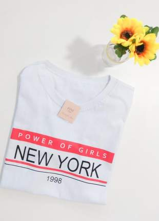 Tshirt blusinha camiseta new york t-shirt malha