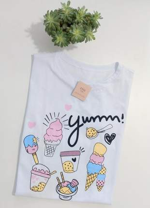 Tshirt blusinha camiseta yumm t-shirt malha