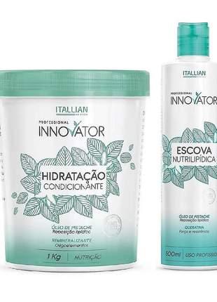 Kit innovator escova nutrilipídica + hidratação condicionante
