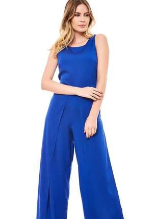 Macacão ralm longo pantalona- azul