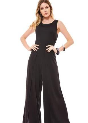 Macacao ralm longo pantalona- preto