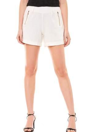 Shorts ralm linho- off white