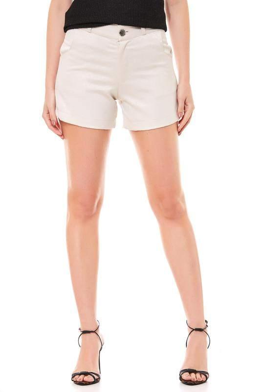 RALM. / Shorts ralm tecido curto com bolso- bege
