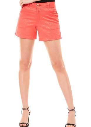 Shorts ralm tecido curto- coral