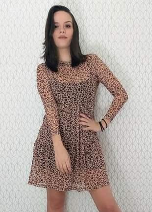 Vestido mel com capuz manga longa (disponível do p ao exgg)