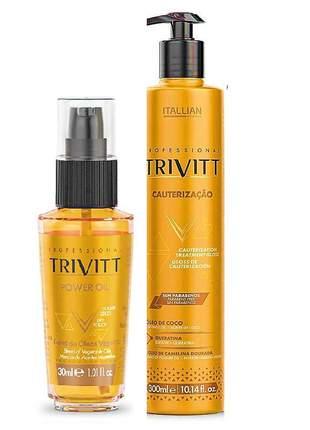 Kit trivitt óleo toque seco power oil 30ml + cauterização