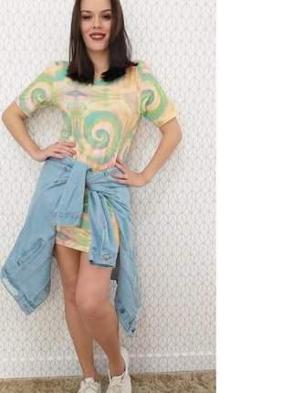 Vestido camisetão maxi t-shirt tie dye (disponível do p ao exgg)