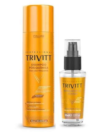 Shampoo trivitt profissional 1l + reparador de pontas 30ml