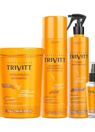 Kit trivitt profissional manutenção pós química (4 itens)