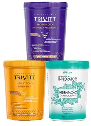 Combo máscara hidratação trivitt + matizante + innovator