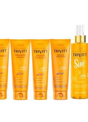 Kit trivitt 6 produtos itallian hairtech